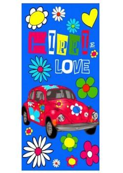 ΠΕΤΣΕΤΑ ΘΑΛΑΣΣΗΣ ΒΕΛΟΥΤΕ HIPPI LOVE CAR 32-7228